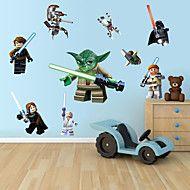 wall stickers Vægoverføringsbilleder, tegneserie lego robot monster pvc væg sticker – DKK kr. 67