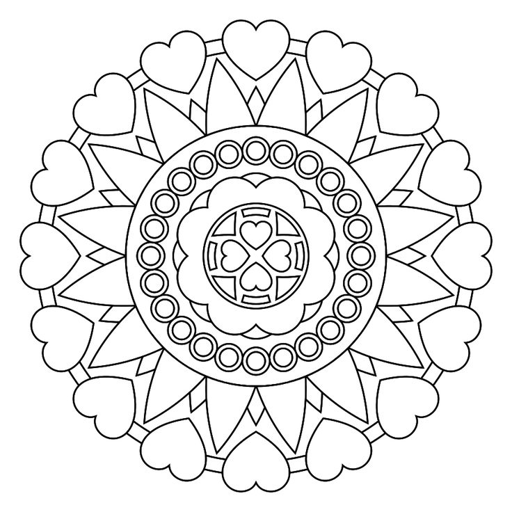 printable mandala for adult coloringjung suggested coloring to relax and unleash the - Art Therapy Coloring Pages Mandala