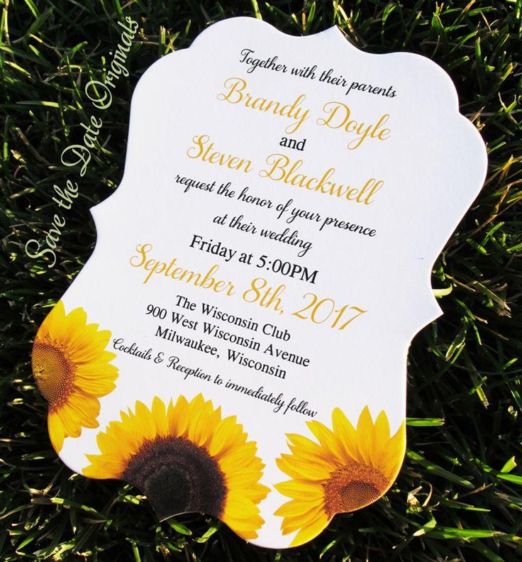 Curvy sunflower wedding invitation 37 best Wedding