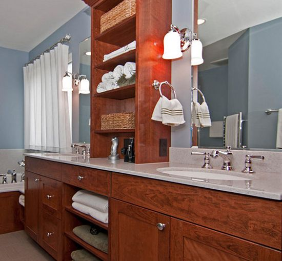 Top 25 ideas about bathroom countertop storage on - Bathroom vanities with storage towers ...