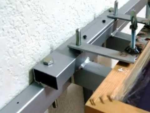 Fabricación de mesa lineal de 4 estaciones para serigrafia artesana ,espectacular maquina para economizar espacio ya que es totalmente desmontable y registra...