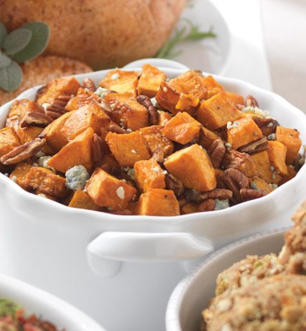 Sweet Potatoes with Blue Cheese and Pecans. Here's a new staple ...
