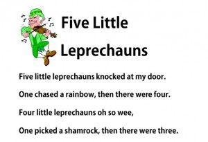 Five Little Leprechauns #fingerplay for St. Patrick's Day #prek