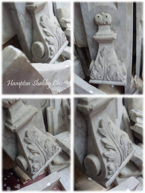Embocadura chimenea mármol de Carrara siglo XIX