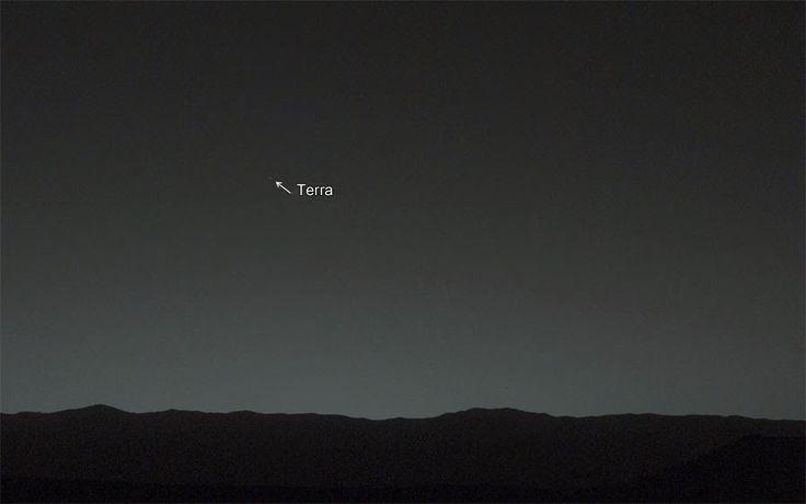 Sonda Curiosity registra pela 1ª vez a Terra vista de Marte - Galeria do Meteorito