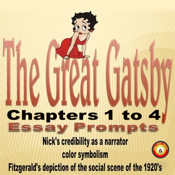 explore presentation nick narrator first three chapters great gatsby Through the eyes of the novel's narrator nick carraway, to jay gatsby and his extravagant lifestyle where there is no end to the luxury and where money is there to be spent thomas streissguth claims, in the roaring twenties (2007) , that the american society.