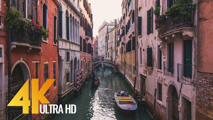 4K Documentary Film - Venice Walking Tour - 1 HR