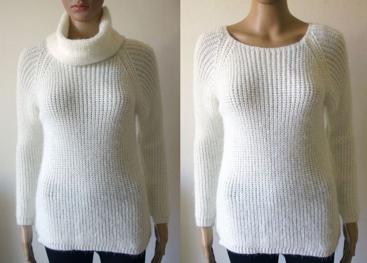 maglia donna pullover maglione collo ad anello removibile tg.unica 40/42