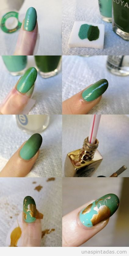 DIY: Golden Decorated Nails Using a Straw | Sole Tutorials