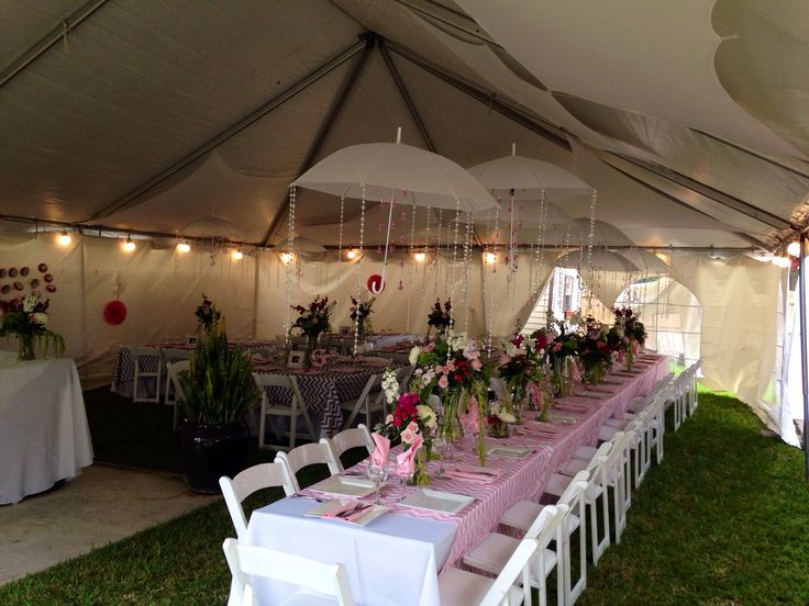 Umbrella theme baby shower my creation wedding birthdays for Baby shower canopy decoration