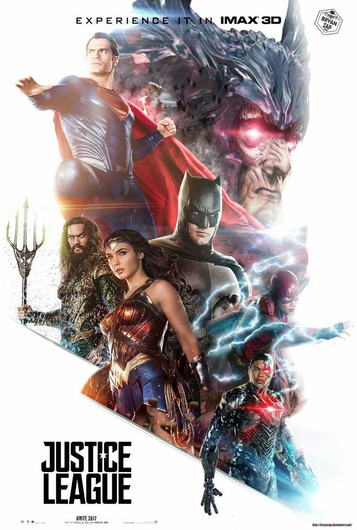 Justice League Movie Poster 2017 Featuring Superman, Wonder Woman, Batman, Cyborg, The Flash and Steppenwolf - DigitalEntertainmentReview.com