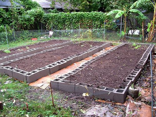 Cement Raised Flower Beds : Images about gardens raised bed design concrete