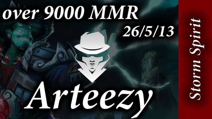 Arteezy Storm Spirit 9k MMR game 26-5-13 50% of the DMG!