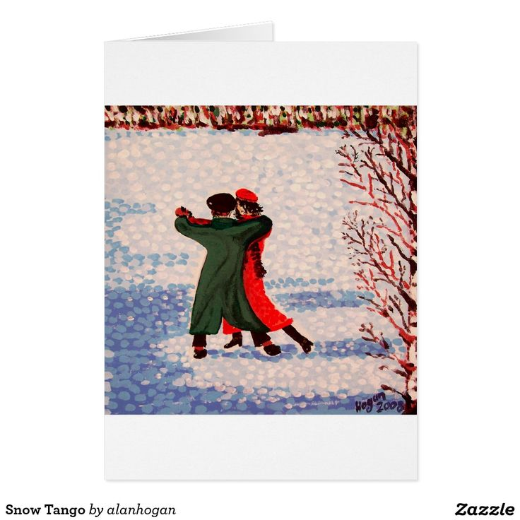 Snow Tango Card @zazzle  and get 20% off with code ZWINTERVACAY #itstheholidayseason #dancers #christmas #tango #feliznavidad #snow #winter #zazzle #dancing #greetingcards #xmas #xmasgreetingcardds