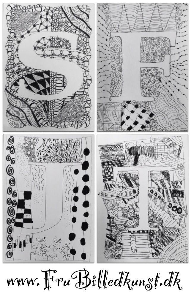 4.klasse har doodlet rundt om deres forbogstaver. Her er nogle af de fine resultater, selvom et par af dem ikke er helt færdige ...Hvis ikke du har hørt om doodling før, så læs mine tidligere indlæ...