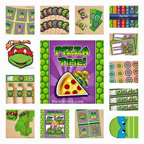 FREE Teenage Mutant Ninja Turtle Party Printables