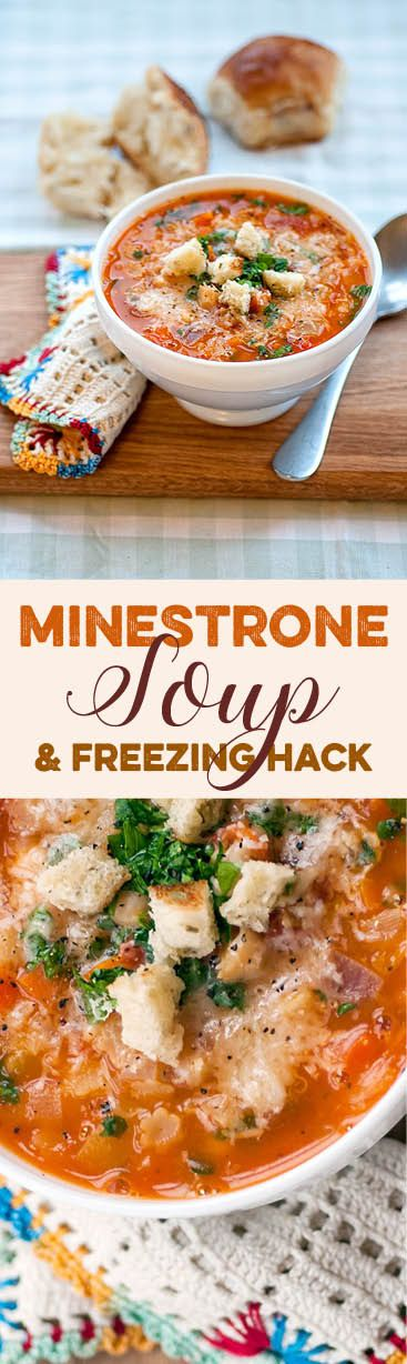 Hearty, budget friendly and healthy, Italian minestrone soup is perfect for a warming lunch or dinner. Make a big batch and use my easy freezer hack to store.