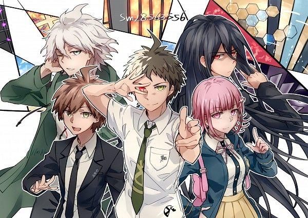 Tags: Anime, Pixiv Id 5319270, Danganronpa 3: The End of Kibougamine Gakuen - Mirai-hen, Super Danganronpa 2, Naegi Makoto, Kamukura Izuru, Komaeda Nagito