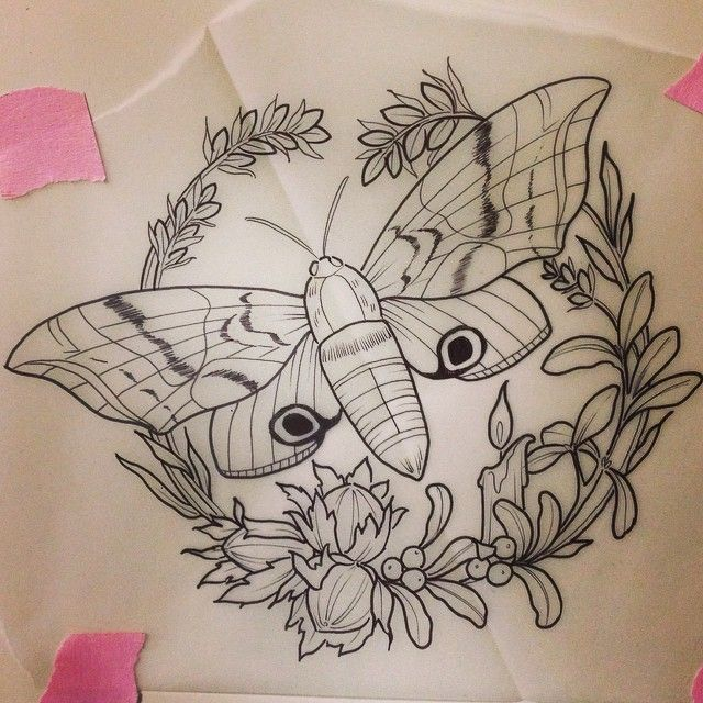 I have time at 3 tomorrow! Had an appointment mixup. Anyone want to come get a cool moth? Email tattoosbykirsten@gmail.com with placement if you want it!  (at Wonderland Tattoos LLC)