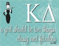 """Classy KD lady :) Go to the aspen height of baton Facebook page and like the link """"aspen heights loves kappa delta."""" If we get the most likes we will win $500 to go towards Prevent Child Abuse America!"""