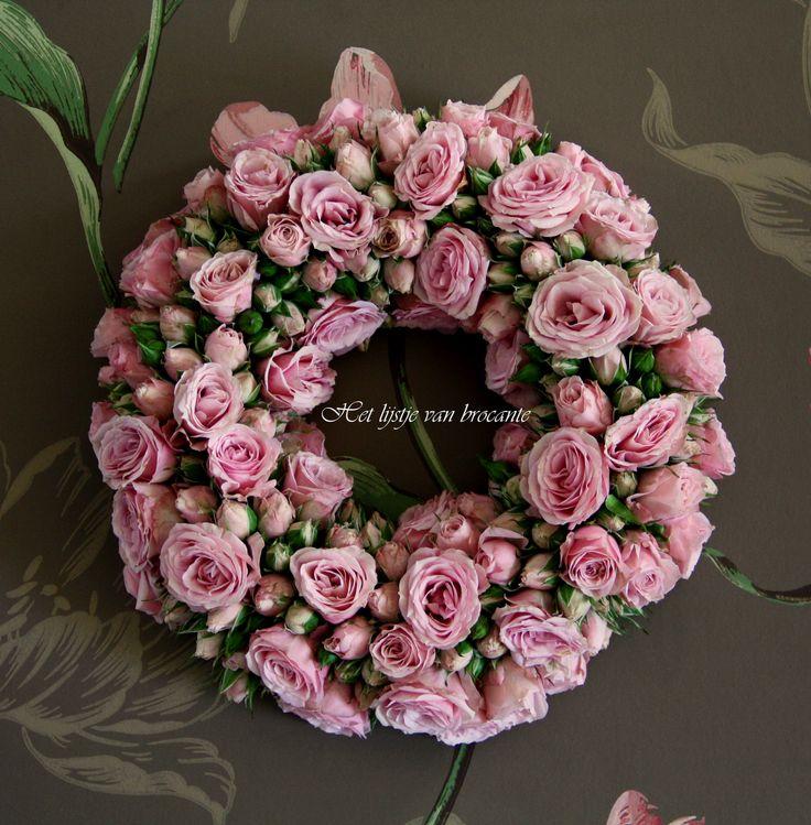 Home made Rose wreath ....