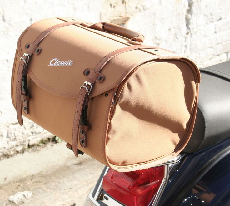 Vespa Classic Soft Top Box Luggage Storage Bag Tan PX GTS LX ET etc in Vehicle Parts & Accessories, Scooter Parts, Other Scooter Parts | eBay