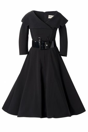Bettie Page Clothing - Secretary 50s retro cirkel dress