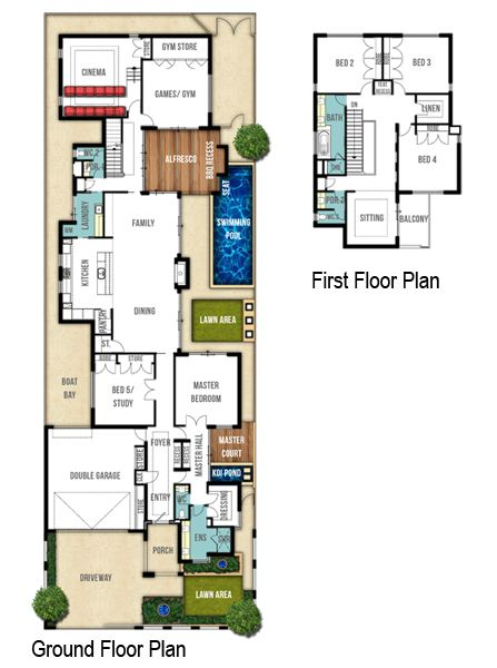 Retreat two storey floor plans by Boyd Design Perth. Let's design your next home.