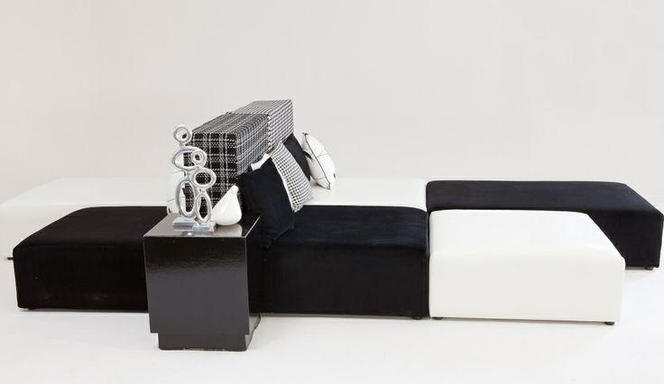 Black and White Modular Lounge Pod