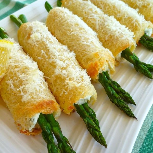 "Asparagus Roll Ups | ""This was absolutely wonderful. They would be great at a ladies lunch. I will make again!"""