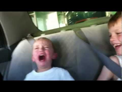 "▶ Funny kid video scary car wash ride ""MUST SEE"" Hilarious - if only that's all it would take for a belly laugh!"