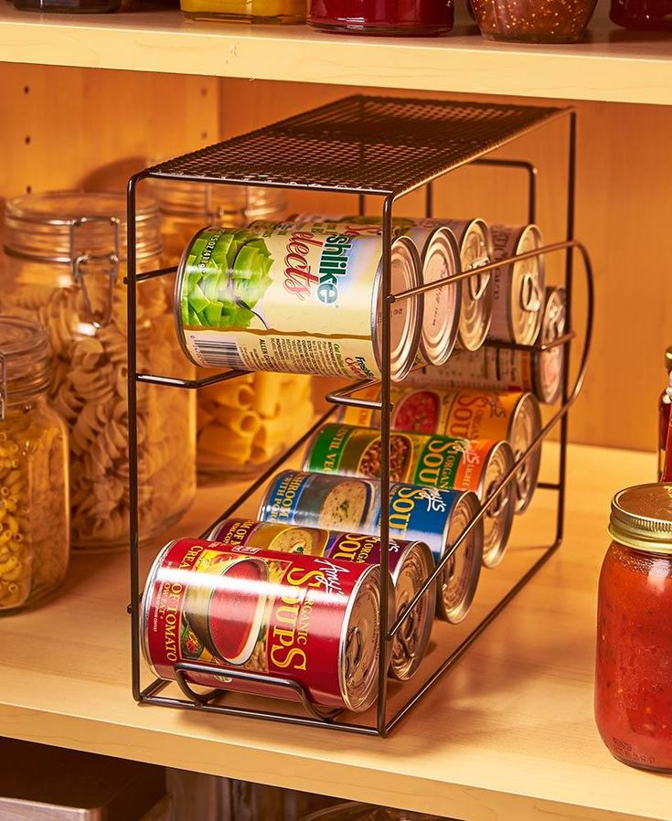 Soda Cans Vegetable Or Soup Can Or Canned Goods Organizer