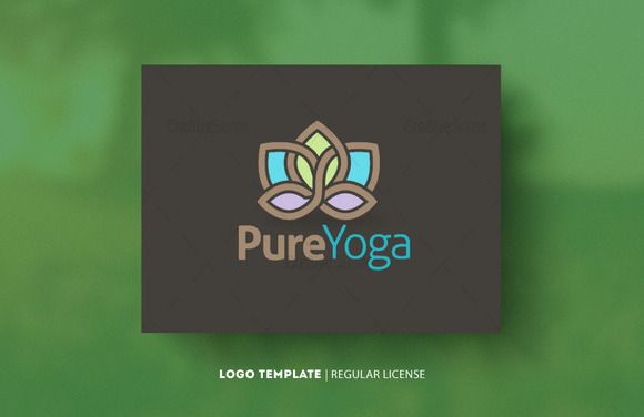 Check out Pure Yoga Logo by Cre8iveSense on Creative Market