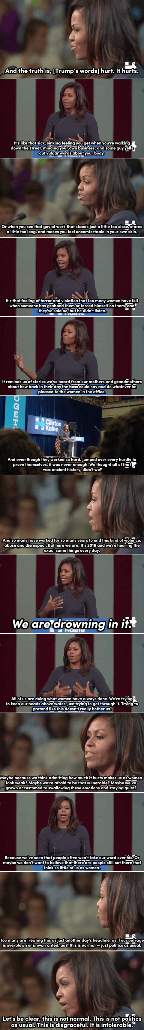 Michelle Obama's speech on the Trump tapes should be required viewing for all Americans