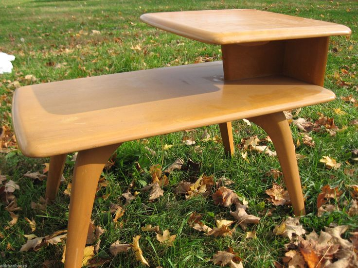 Heywood Wakefield Champagne End Table Mid Century |