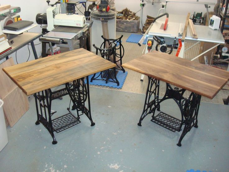 *SOLD* Old Treadle Sewing Machine Computer Desks - by Elwood89 @ LumberJocks.com ~ woodworking community