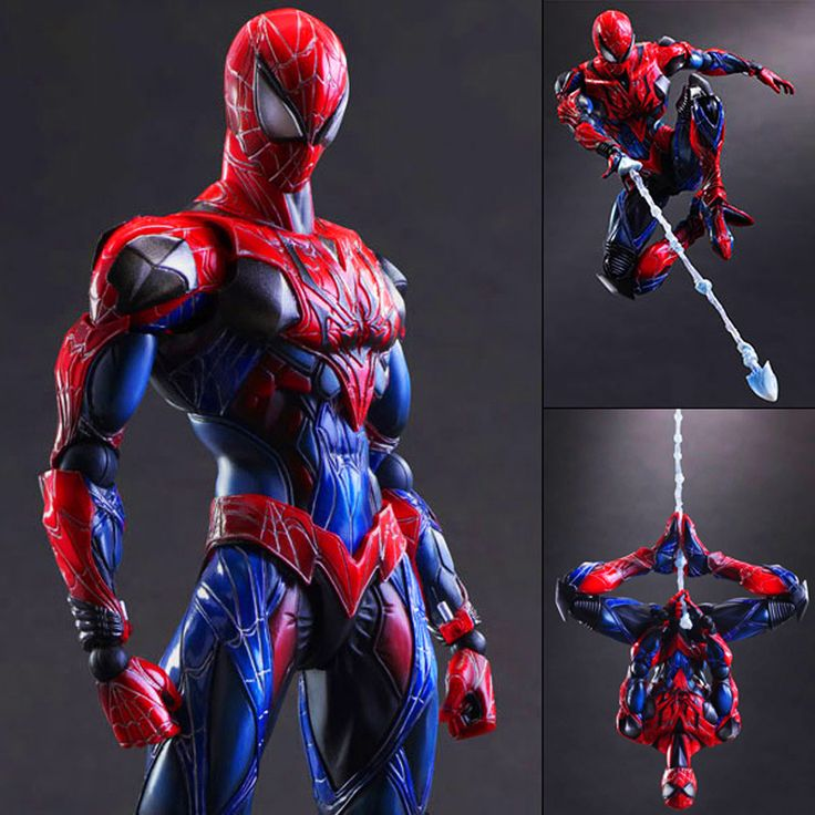 ==> [Free Shipping] Buy Best Play Arts Kai Spider Man Spider Venom Spider Super Hero PA Secret Wars Peter Parker 27cm PVC Action Figure Doll Toys Kids Gift Online with LOWEST Price | 32569825892