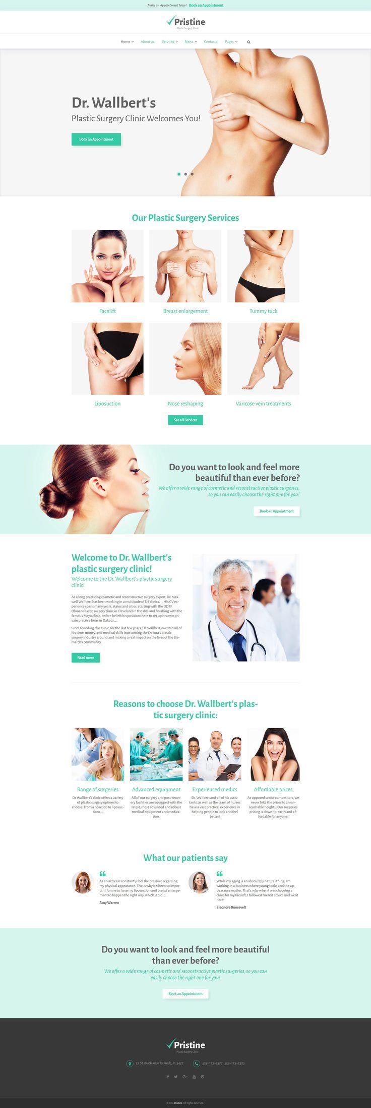 Plastic Surgery WordPress Theme http://www.templatemonster.com/wordpress-themes/pristine-wordpress-theme-58987.html #medicine