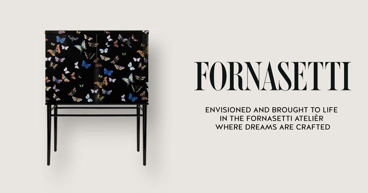 Raised Small Sideboard Farfalle by Fornasetti.