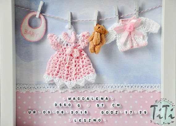Baby Decorative Frame New baby Personalised box Frame Name