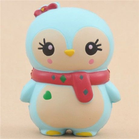 cute blue baby winter penguin scented squishy kawaii