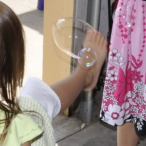 bubble pop game - Can you pop the bubbles with your foot, or your elbow, how about your nose?