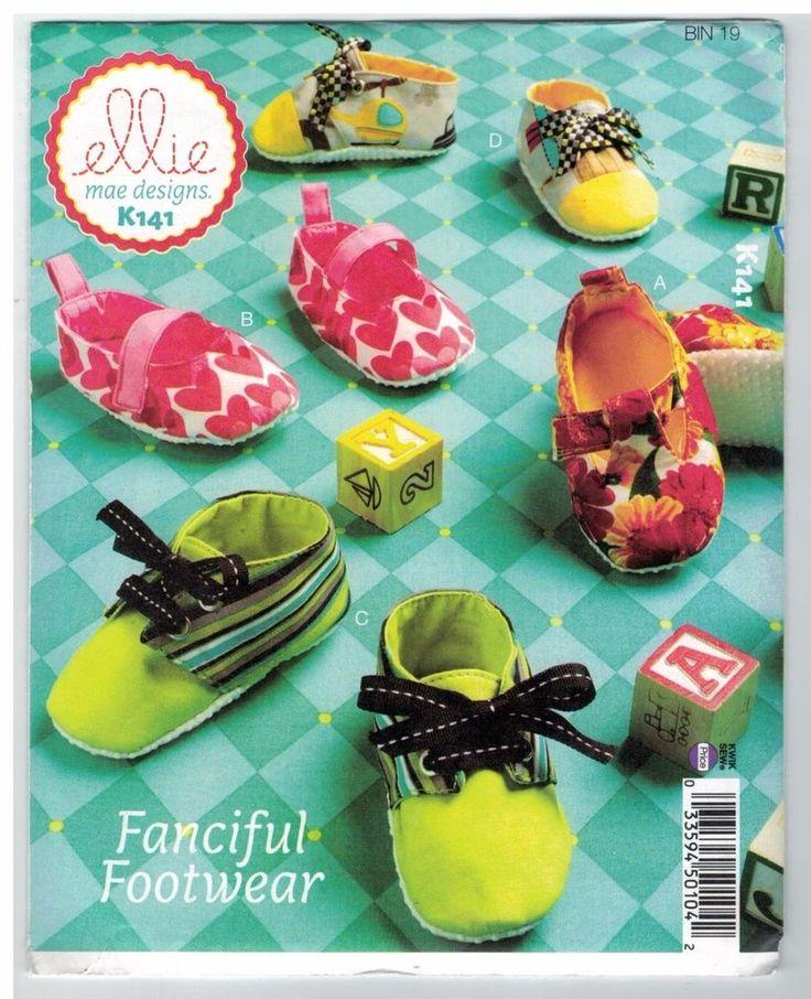 NEW! Baby Booties Footwear Kwik Sew Ellie Mae K141 Pattern FREE AUST POST!
