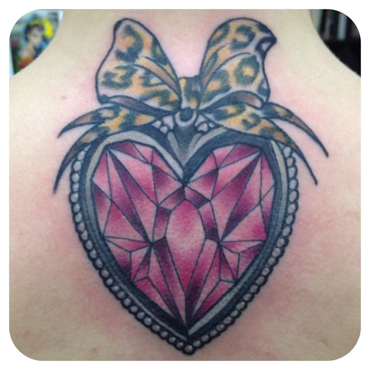 138 best diamond tattoo images on pinterest diamond for Diamond heart tattoo