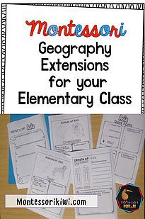 Geography extensions for Montessori elementary classrooms.