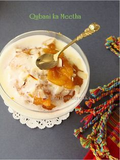 Hyderabadi qubani ka meetha / Indian apricot pudding or fool (e)