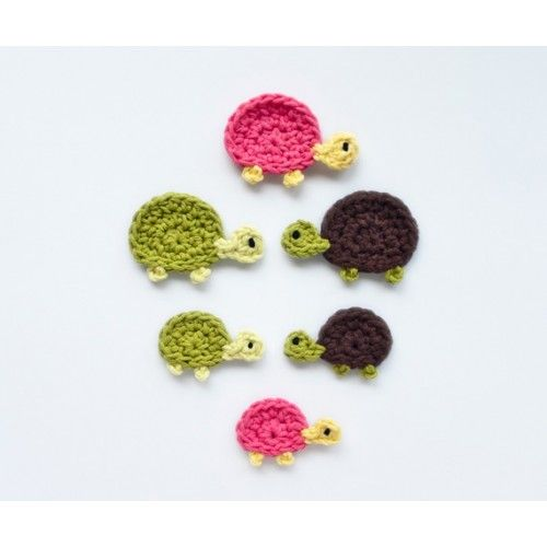 Mom and Baby Turtle Applique Crochet