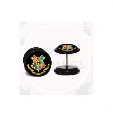 Hogwarts Fake Plugs by Forever Fake Plugs via Etsy