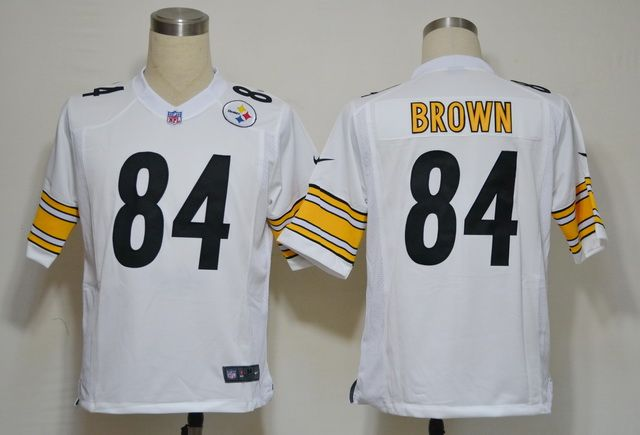 $25.00 Nike NFL Jerseys Pittsburgh Steelers Antonio Brown #84 White