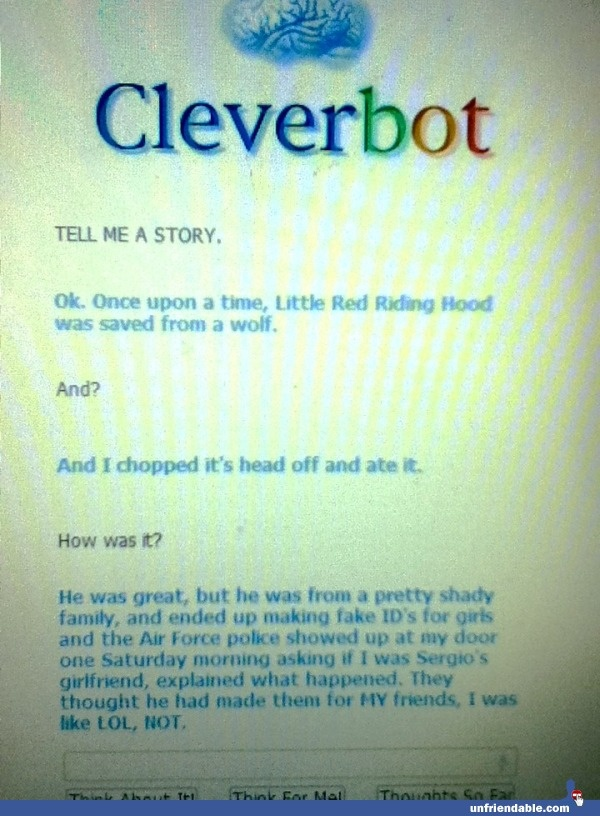 oh cleverbot